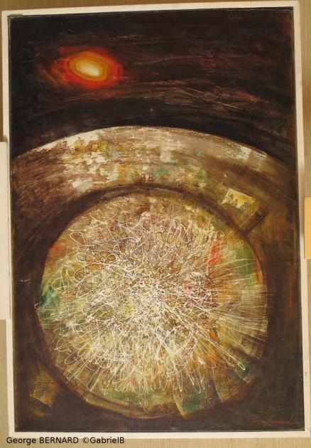 Espace pensé, Notre-Dame de la Terre (1962) 130 x 82 cm