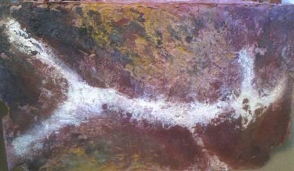 Colorants et cires colorées sur ciment et plâtre © JLC 2004
