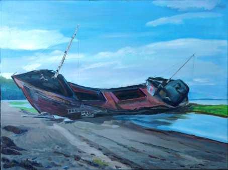 Le bateau échoué à Baie Saint Paul N°2
