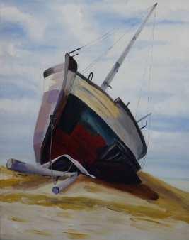 Le bateau échoué de Baie Saint Paul N°1 (collection particulière)