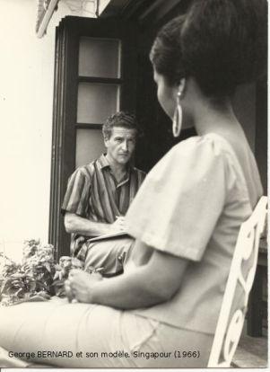 Dessin de modèle à Singapour en 1966