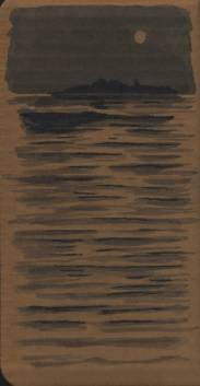 Encre de Chine sur carton 95x185 mm © JLC