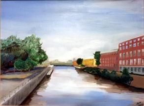 Le canal de Lachine à Montréal