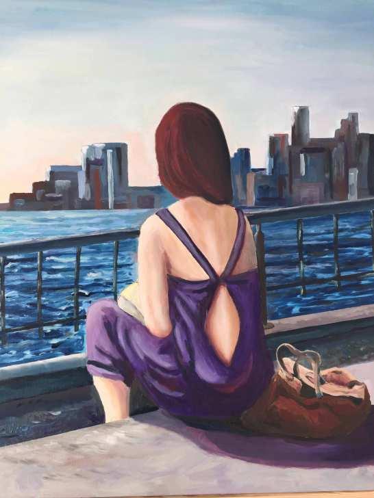 L'Hudson River le soir