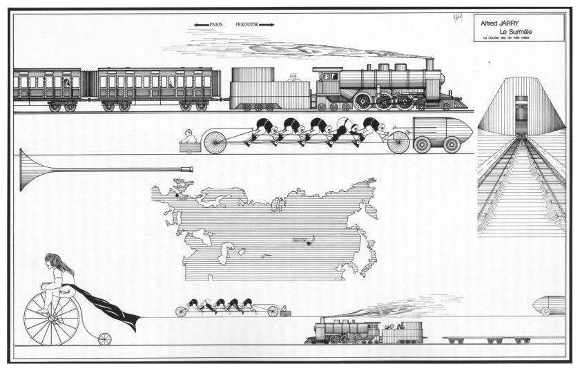 Encre de Chine sur carte à gratter. 650x995 mm – 1975 © A. Jihel - JLC