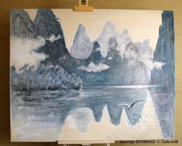 Rêveries sur la Li, Chine (1988) 130 x 160 cm