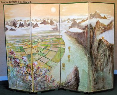 Gorges du Yang Tsé, Chine (1989) 4 volets de 150 x 50 cm