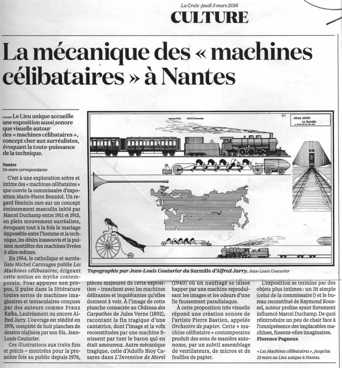 LA CROIX 3 mars 2016 Rubrique : Culture