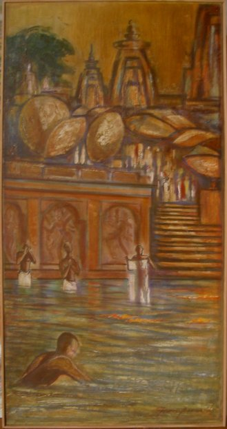 Benarès, Inde (1966) - 100 x 50 cm