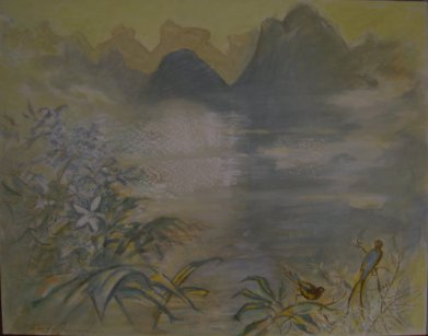 Brume du matin, Koueilin, Chine (2000) - 100 x 81 cm